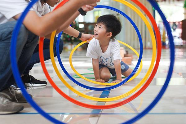 Child playing at Peter & Jane kindergarten