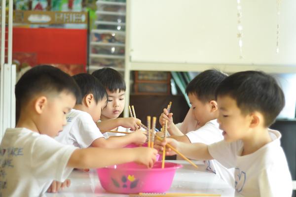 Students in a classroom in Peter & Jane kindergarten in Puchong.