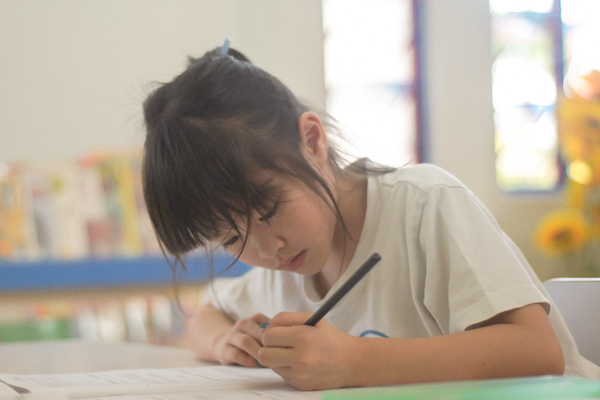 Child learning at kindergarten in Puchong
