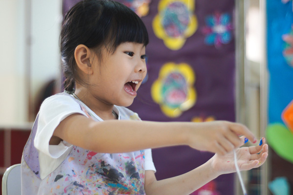 Student learning at a Peter & Jane kindergarten in Puchong